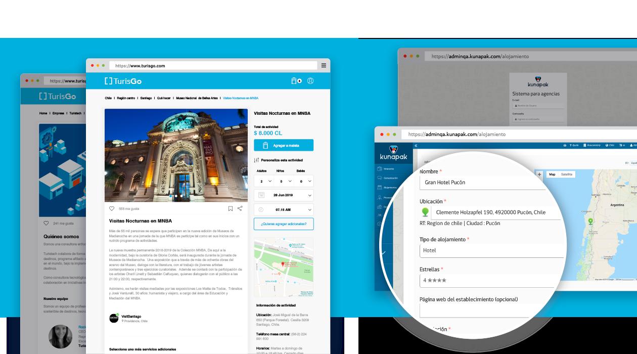 Plataforma web e-commerce Kunapak de administración.
