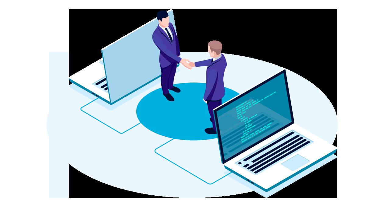 Business to business o B2B, transacción comercial entre empresas.